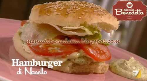 Hamburger di nasello ricetta parodi da i men di benedetta for Cucinare nasello