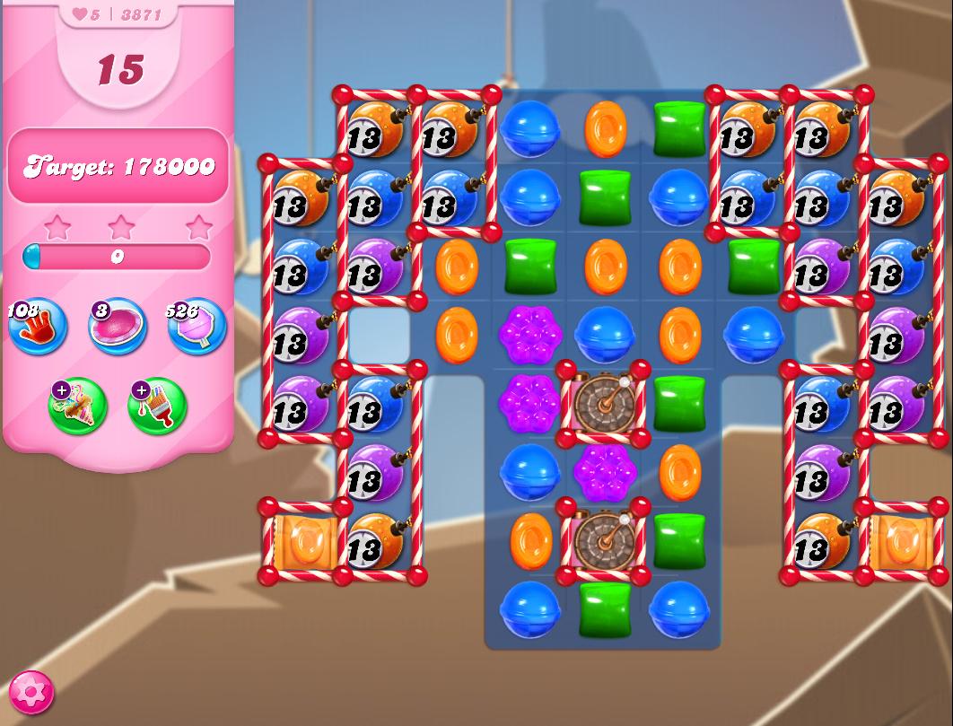 Candy Crush Saga level 3871