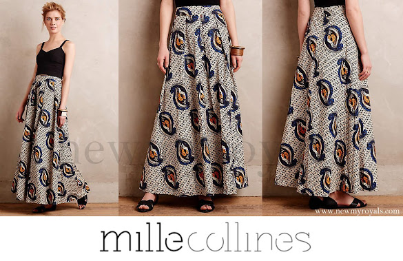Queen Maxima wears Mille Collines Maaike Maxi Skirt