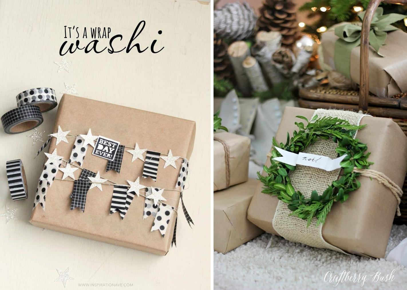 jak pakowac prezenty christmas package papier pakowy pomysly inspiracje