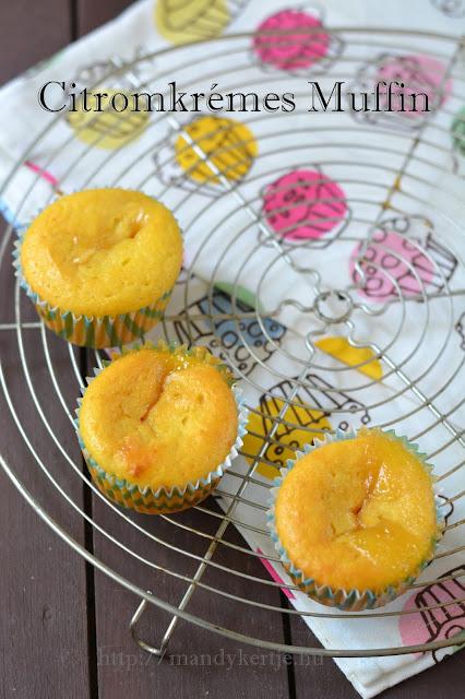 Citromkrémes muffin
