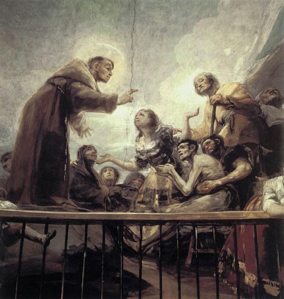 O Milagre de Santo António - Goya, Francisco e suas pinturas ~ Foi um importante pintor espanhol da fase do Romantismo