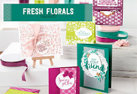 Look more closely at the Fresh Florals Product Suite by Stampin' Up!