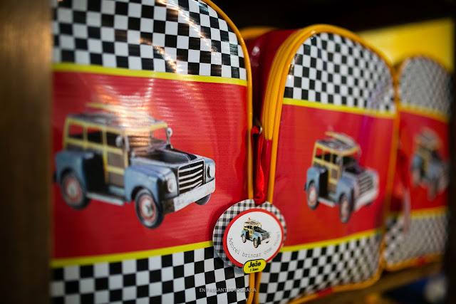 sacolinhas de vinil carros