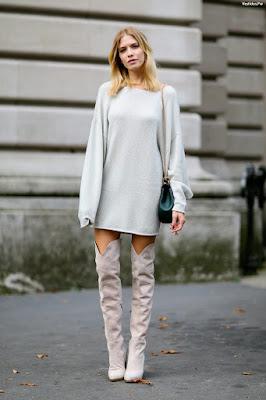 vestidos y botas largas