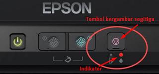 Lampu Indikator Tinta Epson L210 Menyala