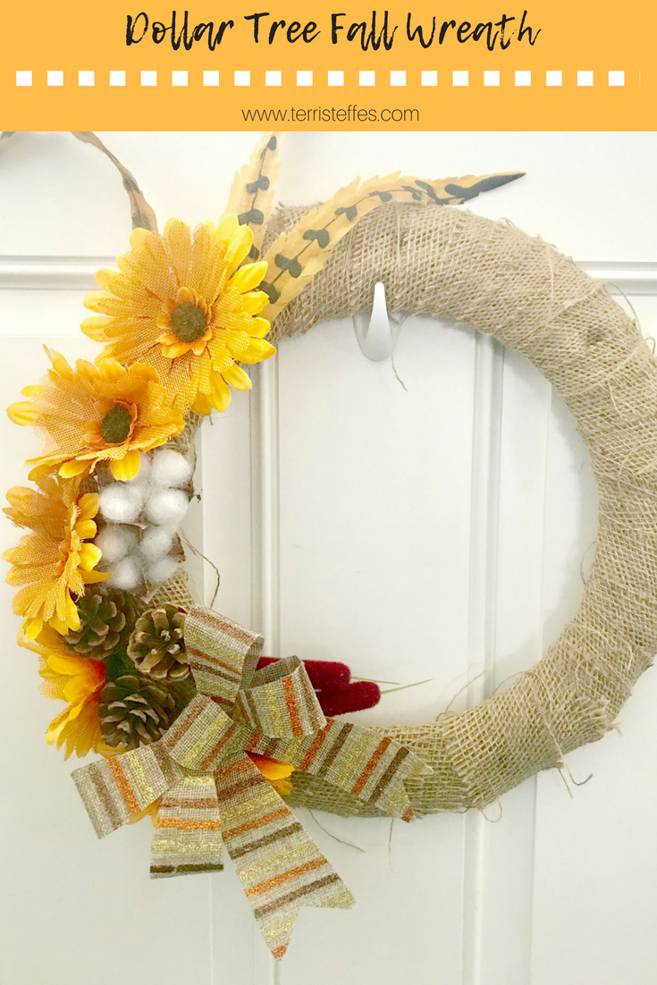 Our Good Life: Dollar Tree Fall Wreath Tutorial #pinterestchallenge