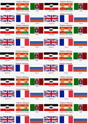 Banderas de la Primera Guerra Mundial