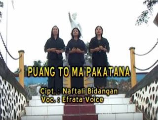 Lirik Lagu Toraja Puang To Ma'pakatana (Efrata Voice)