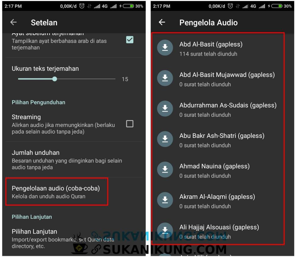 Quran For Android, Al-Qur'an Digital Lengkap Untuk Android (Bagian #4 – Audio Full) - www.sukanikung.com