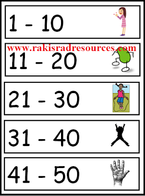 Free number aerobics poster to get students moving and counting - from Raki's Rad Resources.