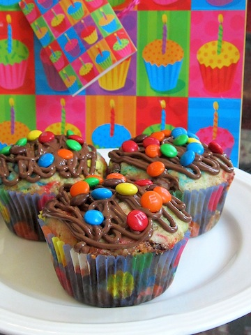 Food Lust People Love: Perfect for whatever your celebrations, these Birthday Party Pancake Muffins have all the flavor of chocolate chip pancakes but are much easier to make and serve! Bake some today!