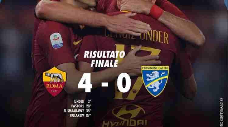 Hasil AS Roma vs Frosinone Skor Akhir 4-0