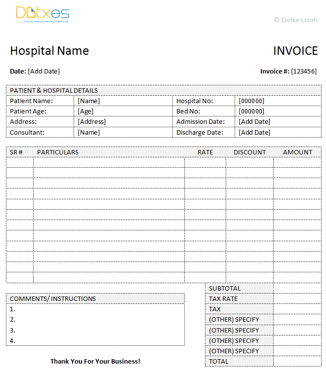 Invoice Template Hotel Billing neverageinfo – Sample Hotel Receipt Template