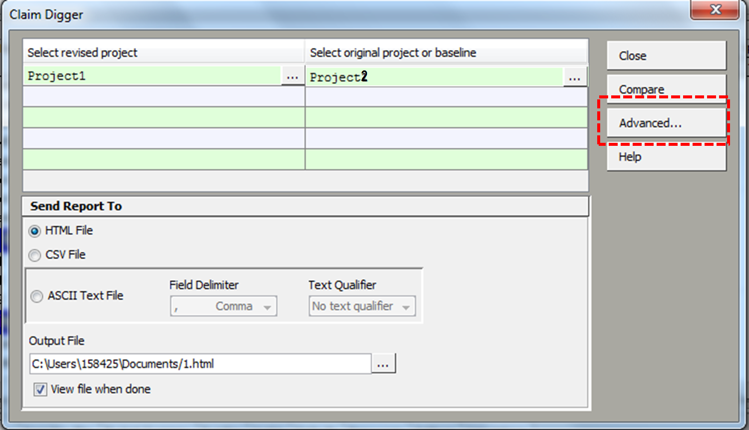 Claim digger for comparing two schedules in primavera step 3 baditri Image collections