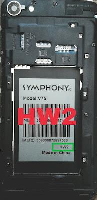 symphony v75 hw 2 firmware