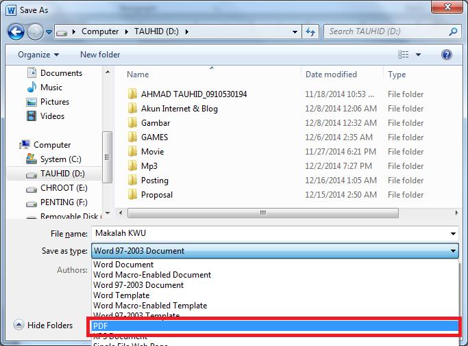 Cara Mudah Membuat File PDF dari Microsoft Word