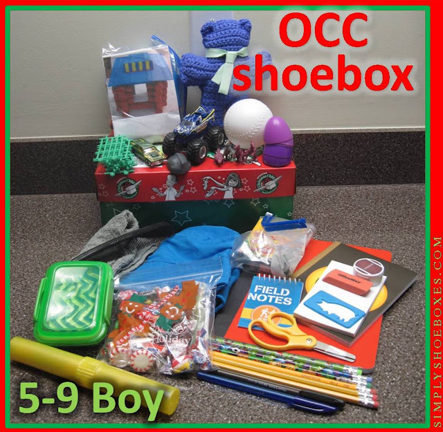 5 to 9 Year Old Boy Operation Christmas Child Shoebox