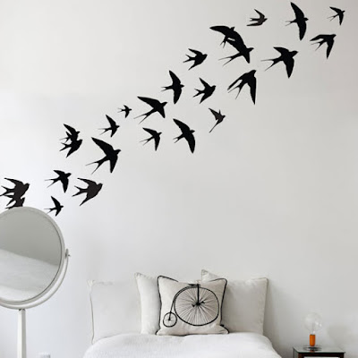 vinilo decorativo pared aves golondrinas