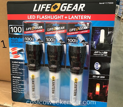 Need some light? Then you need the Life Gear LED Flashlight and Lantern Combo