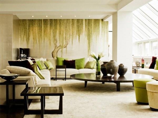 Dekorasi dinding modern untuk ruang tamu rancangan for Mural hitam putih