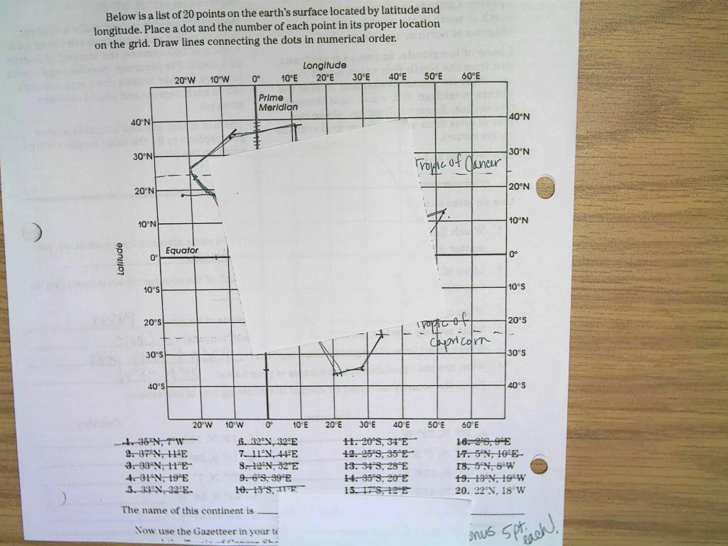 Bt Wilson Bobcat Social Stu S Latitude Amp Longitude Worksheet