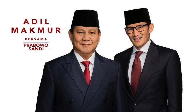 Bocor, Survey Internal Prabowo-Sandi Sudah Unggul 19 Provinsi