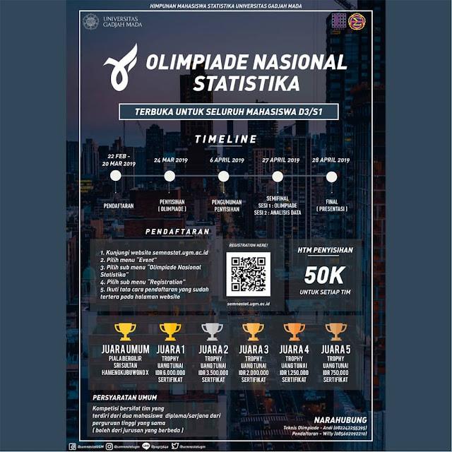 Olimpiade Statistika Nasional UGM 2019 Mahasiswa