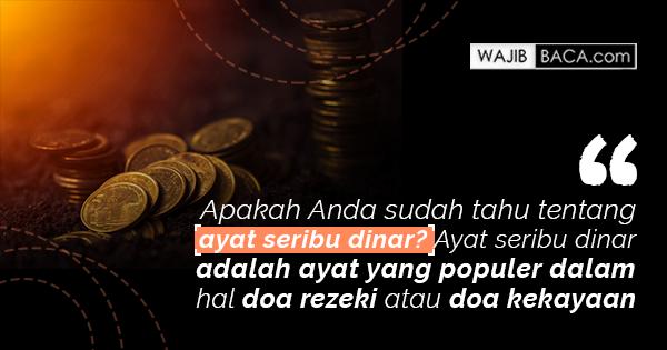 Inilah Cara Mengamalkan Ayat Seribu Dinar dalam Islam