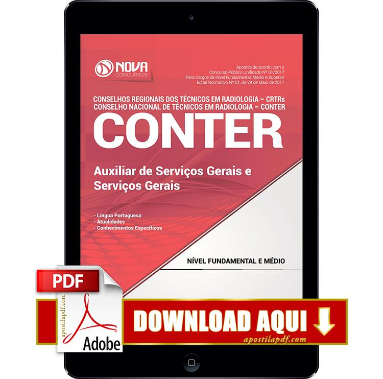 Apostila CONTER 2017 PDF Download Auxiliar de Serviços Gerais