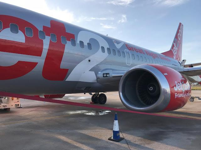 boarding a Jet2 plane at Palma airport Majorca