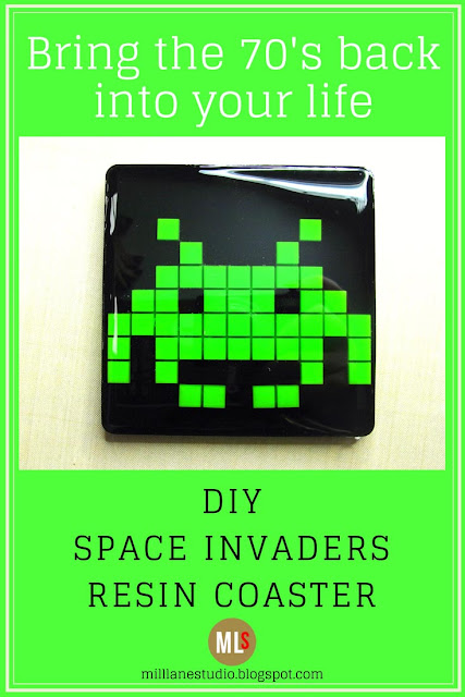 DIY Space invaders resin coaster inspiration sheet
