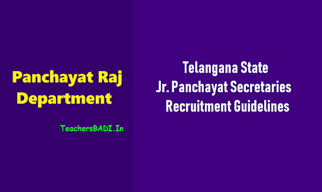 ts junior panchayat secretaries recruitment 2018 guidelines,ts junior panchayat secretaries recruitment 2018 online application submission duration,application fee /exam fee,eligibility criteria,exam pattern,selection process,merit list preparation