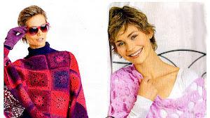 Chal y Poncho Crochet con estilo  / paso a paso