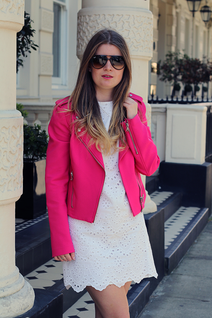 zara pink jacket fashion bloggers