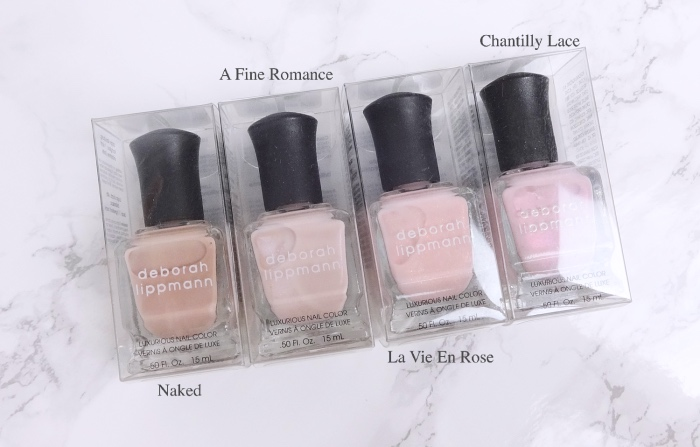 Deborah Lippmann sheer neutral polishes