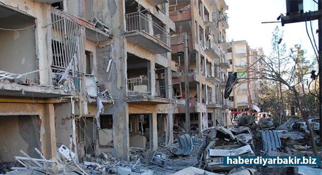 DIYARBAKIR-After bomb-laden minibus exploded in Diyarbakır Bağlar district in a density civilian region, damage detection studies has begun.