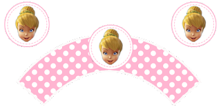 Tinker Bell Free Printable Wrappers Cupcake.