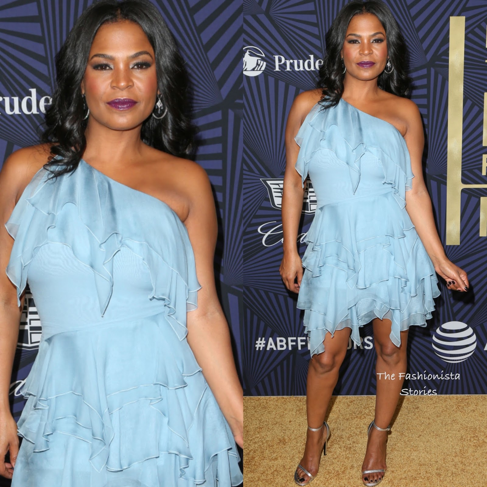 Nia Long In Vintage Ysl At Bet S 2017 American Black Film Festival Honors Awards