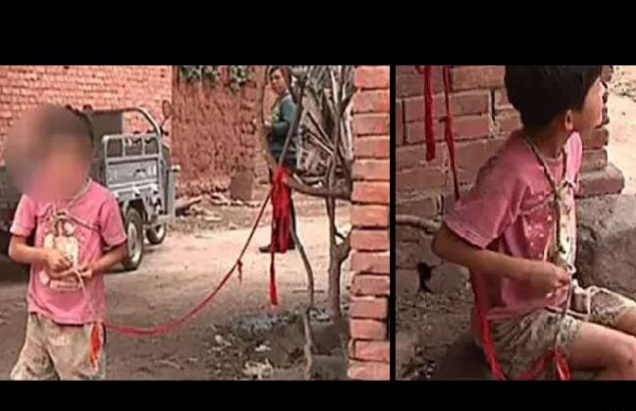 مأساة  حقيقية في الصين  قاما بربط حفيدتهم في شجرة 6 سنوات متواصلة! والسبب غريب جداً..
