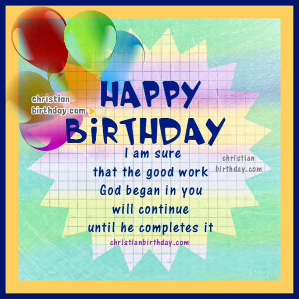 Christian Birthday Greetings Bible Verses Christian