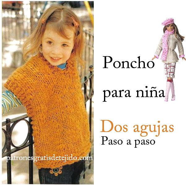 Poncho para niña para tejer en una tarde / Paso a paso | Crochet y ...