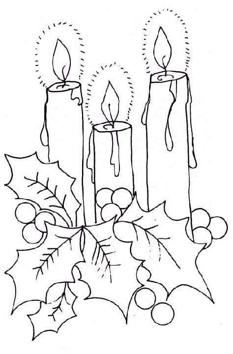 Velas Natalinas para desenhar