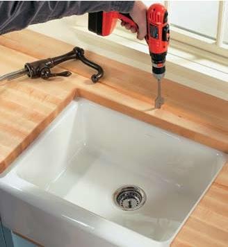 Kitchen and bathroom renovation how to build a butcher - Butcher block countertops in bathroom ...