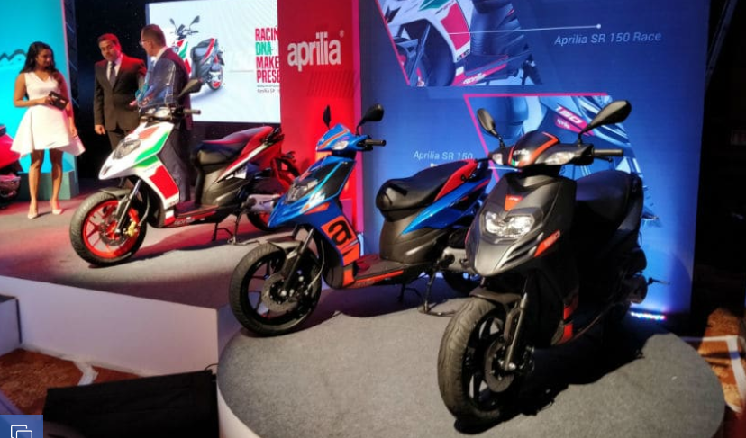 Aprilia SR 150 ABS will be available from January 2019, starting price ₹ 82,000