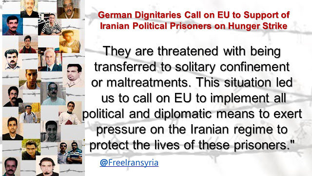 German Dignitaries Call on EU to Support of Iranian Political Prisoners on Hunger Strike
