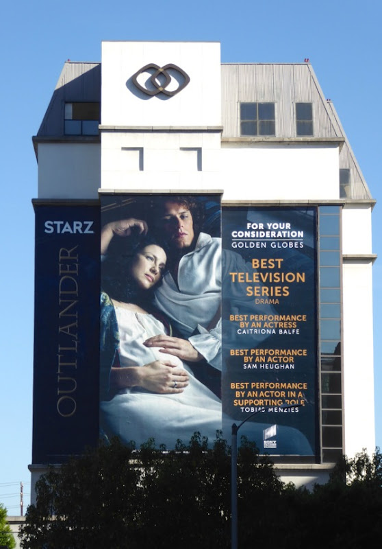 Outlander season 2 Golden Globes FYC billboard