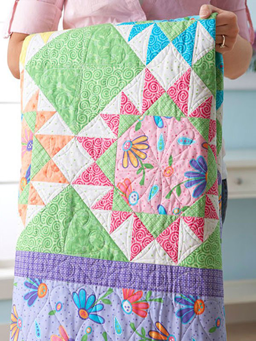 Color Your World Quilt Free Pattern Designed by Barb Groves and Mary Jacobson of Me and My Sister Designs for All People Quilt
