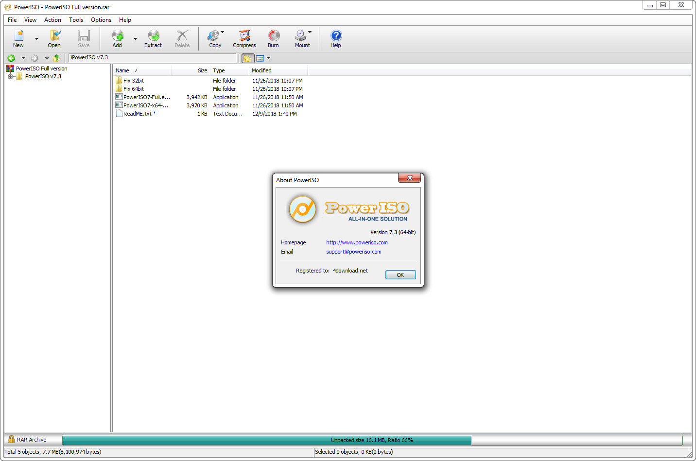 PowerISO v7.4 Full version