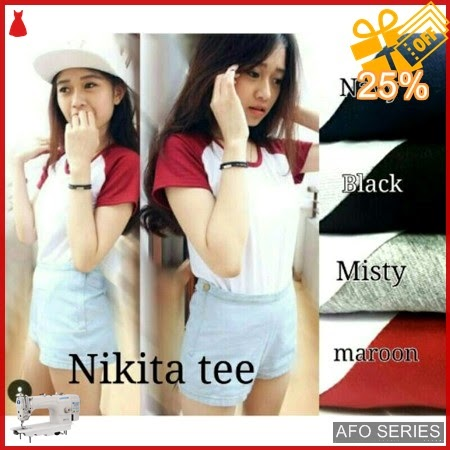 AFO195 Model Fashion Nikita Tee Modis Murah BMGShop